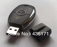 Wholesale Hot sale Fashion plastic Mercedes Benz USB 8GB/16GB/32GB Flash Memory Stick Car Key Drive Disk USB Flash 2.0