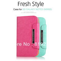 Luxury Wallet Leather Case with Card Slot for Samsung GALAXY NOTE3 N9000  Wholesale kalaideng Note3 phone cover
