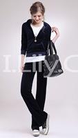 2014 High-quality Velvet Sports Set Female Rhinestones Fashionable Casual Sportswear Set Small