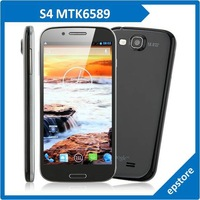 S4 MTK6589 Quad core Cortex A9 1.2GHz 5.0 Inch Dual SIM Touch screen 1080*1920 Cell Phone Retail and Wholesale Free Shipping