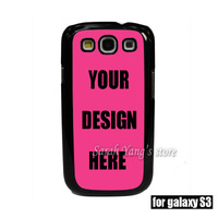 Personalized Customized Black TPU Case+PET sticker for Samsung Galaxy S3 i9300