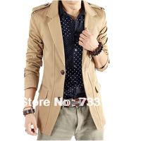 2013 male suit commercial men's blazer casual suit slim outerwear black Free shipping