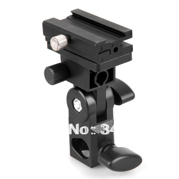 Flash Stand Bracket B for camera Flash Shoe Swivel Light Umbrella Holder Free Shipping(China (Mainland))