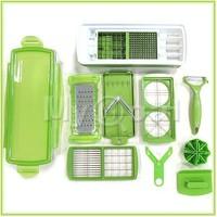 2014 New 12pcs/sets Fruit Nicer/Vegetable  Nicer Dicer Slicer Cutter Plus Container Chopper Peeler Set /Kitchen Tool  072615