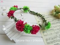 Free Shipping Boho Style Bridal Wedding Hair Flower Garland the Decorative Garlands Bridal bridesmaid Love design