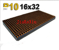 led signs 10mm p10 panel signs Waterproof & Outdoor P10 Single Yellow color LED Display Module