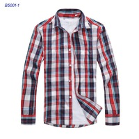 Classic New 2013 Men Casual Shirts/Brand Designer Plaid Casual Shirt/High Quality Cotton Men Tops/Shirts B5001 size S-XXXL