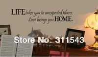 """2013 New Original Design Removable """"life"""" 3D Vinyl Wall Stickers on the wall  home decor   H8081"""