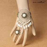 New women beige slave bracelet  pulseira cuff hand chain bracelet WS-314