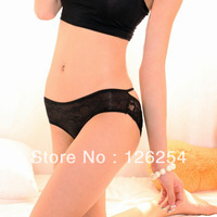 Free Shipping High Quality Women's Sexy Panty Briefs Knickers Bikini Lingerie String Underwear For Women Black Color