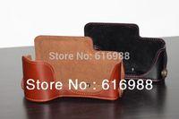 Wholesale! a6000 camera bag half cover bag genuine leather case bottom case for Sony A6000 NEX-6 NEX6 NEX-7 NEX7 camera case bag