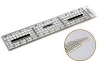 U-STAR High Precise Scale Ruler UA-90037, 1/35, 15cm, With Protective Metal Edge and Mini Anti-slip Rubber Pad, UA-90037