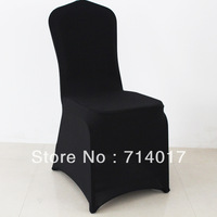 Free Shipping Four Side Stretch Black Spandex Lycra Banquet Chair Cover Without Sashes for Wedding