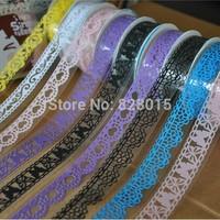 Free shipping Large Sizes 50pcs/lot Masking tape Lace Washi Tape Transparent decoration tape for Packaging