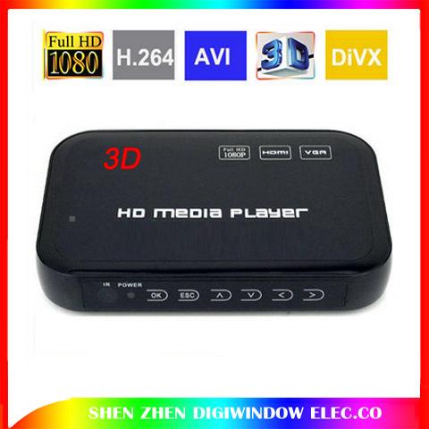 1080P Full HD HDD Media Player INPUT SD/USB/HDD Output HDMI/AV/VGA/AV/YPbpr Support DIVX AVI RMVB 3D H.264 FLV MKV Music Movie(China (Mainland))