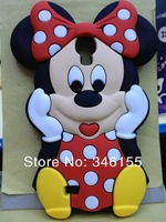 wholesale 10pcs/lot Sales Promotion Minnie 3D mickey mouse Back Case Cover for Samsung Galaxy  S4 i9500 & Free Shipping