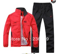 2013 New fashion Sport suit male sportswear jackets casual sportswear two piece set size L , XL , XXL , XXXL , XXXXL