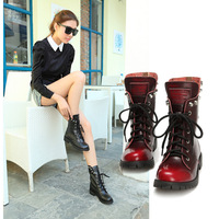 2013 autumn fashion martin boots genuine leather skull rivet motorcycle boots casual boots women boots women shoes