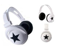 Mix Style 3.5 mm big star earphone headset headphone  For Computer Game MP3 dj Free shipping handsfree wholesale Free shipping