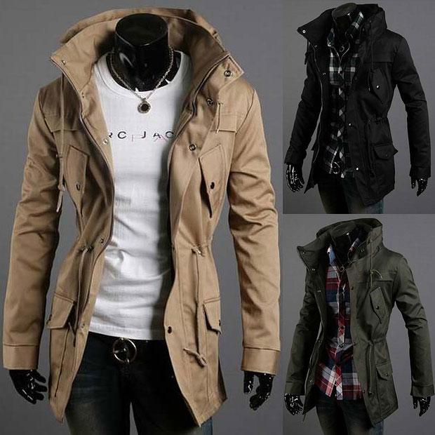 buy 2015 men 39 s turtleneck trench coat men slim fit cotton jacket fashion multi. Black Bedroom Furniture Sets. Home Design Ideas