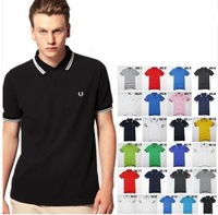 Wheat 2014 big autumn and winter classic fp male turn-down collar fashion casual fashion slim short-sleeve polo shirt