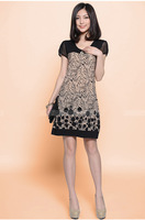 Latest Womens Summer Splice Suit Pattern Slim Skirt Loose Dress L01H324Z