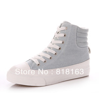 Free Shipping Autumn /Spring  women's Elevator Canvas Shoes Washing Fabrics 3655