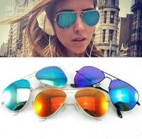 FREE SHIPPING New Arrival Men Women Loved Unisex Fashion Sunglasses Aviator Sunglasses 4 Colors High Quality Low Price