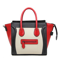 Smile face handbag genuine leather candy color messenger 2013 new arrival free shipping