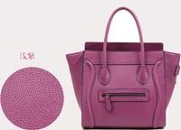 Smiley face bag genuine leather handbags women bags genuine leather bags designers brand 2013