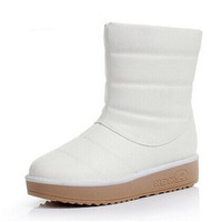 Winter snow boots female knee-high thermal cotton-padded shoes trophonema foot wrapping casual boots