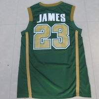 Irish High School #23 Lebron James Cheap Throwback Jerseys New Material Top Quality Mens Basketball Jersey