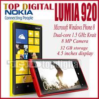 Original Nokia Lumia 920 Unlocked 4.5''IPS Win 8 OS Dual-Core 1.5GHz 32GB 3G GPS WIFI 8.7MP Windows Phone