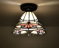 Multicolour glass ceiling light fashion rustic stained glass tiffany lighting lamps balcony lamp E14 H17*W20cm  free shipping