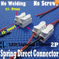 led lights 2P spring connector , wireless, no screws 5050 monochrome led lights
