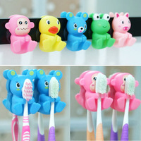 2pcs/card lovely Suction cup toothbrush holder Fashion cartoon toothbrush holder 072618