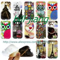 Good quality Butterfly flower Paris Eiffel Cartoon owl soft tpu cover case for Samsung galaxy Grand Duos I9080 I9082
