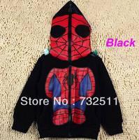 Nwe kids spideman boys girls full zipper mask jacket hoodies Coat Size 3-8 Year
