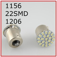 New 50pcs/lot ,Car led lamp 1156 BA15S 22 smd LED 22led 22SMD Leds light 3020/1206 SMD turn signal reverse light