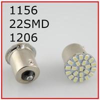 New 50pcs/lot ,Car led lamp 1156 BA15S 22 smd LED 22led 22SMD Leds light 3020/1206 SMD turn signal reverse light