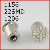 New 10pcs/lot ,Car led lamp 1156 BA15S 22 smd  LED 22SMD 22led light 3020/1206 SMD turn signal reverse light