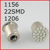 New 10pcs/lot ,Car led lamp 1156 BA15S 22 smd  LED 22SMD 22led light 3020/1206 SMD turn signal reverse light