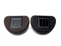 Black shell  Solar fence light  100% Solar powered outdoor decorations wall light 2LED 6pcs/lot Free shipping