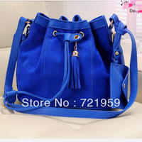 Tassel bucket bag 2013 women's spring handbag fashion scrub vintage bag one shoulder cross-body
