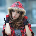 Colors of autumn and winter fur with a hood cloak cape fashion plaid dual bohemia scarf(China (Mainland))