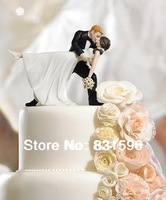 "Free Shipping  ! A Romantic Dip"" Dancing Bride and Groom Couple Figurine  EKT0182"