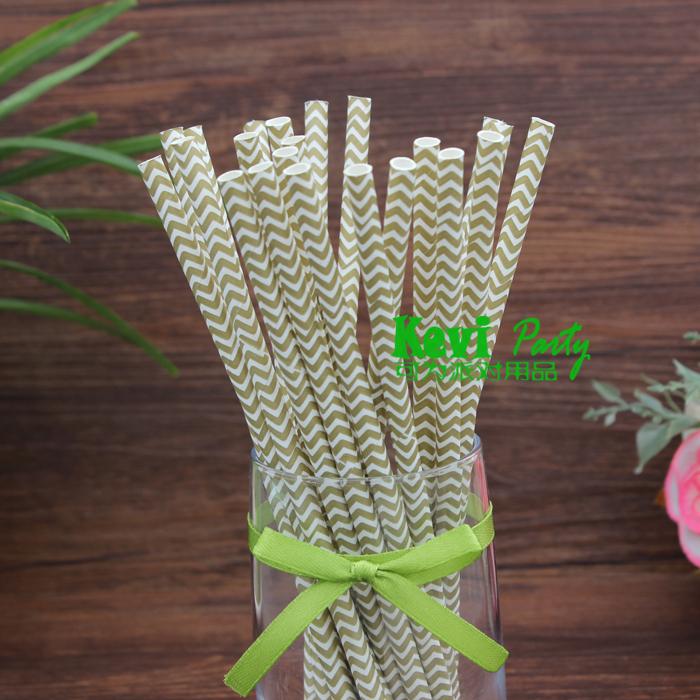 Green Striped Paper Straws Stripes Paper Straws