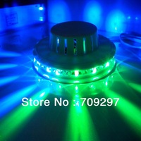 Wholesale 5 pcs/lot 8W 48LED AC85~265V RGB mini Auto Rotating LED Stage Light KTV Bar Party DJ Stage Lighting US/EU plug 866066