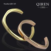 NEW arrival women bangle in perfect polishing rose gold cuff brand design gold beautiful accessory QR-165