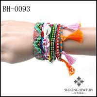 Wholesale - The Top Glow Brazilian Style Hipanema Bracelet Magnetic Lock Bracelet With Tassel 20pcs/lot Free Shipping